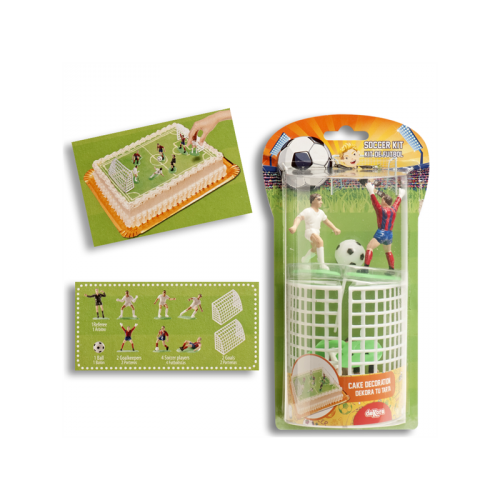 Kit Déco de Gâteau Footballeurs (10 pièces)