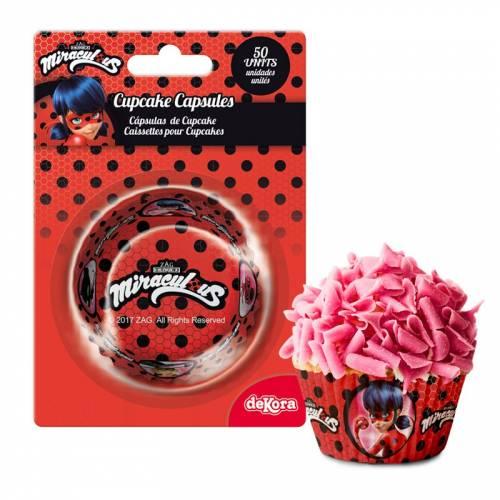 50 Caissettes à Cupcakes Lady Bug