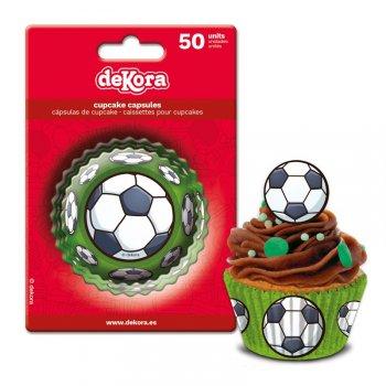 50 Caissettes à Cupcakes Foot
