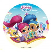 Petit Disque Shimmer & Shine (16 cm) - Sucre