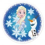 Disque Elsa et Olaf (16 cm) - Sucre