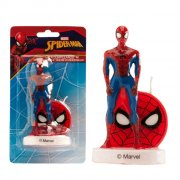 1 Bougie Spiderman sur socle (9 cm)