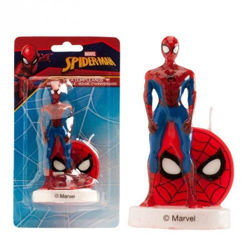 1 Bougie Spiderman sur socle (9 cm)