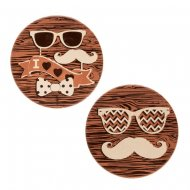 3 Médaillons Moustache (5 cm) - Chocolat