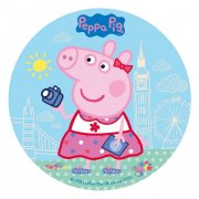 Disque Peppa Pig Bleu clair (20 cm) - Sucre