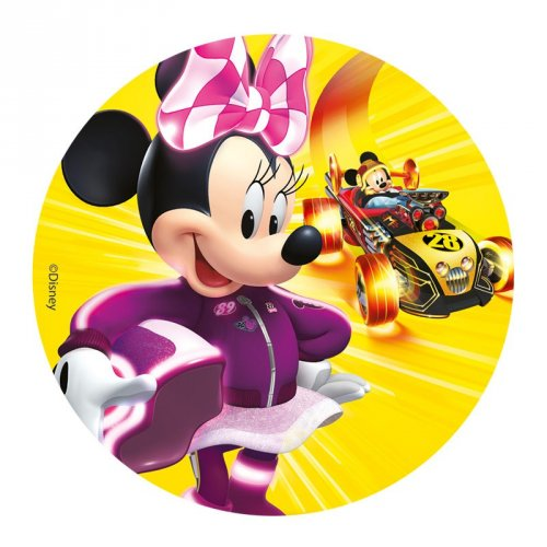 Petit Disque Minnie Racer (16 cm ) - Sucre