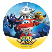 Disque Super Wings Jett (20 cm) - Sucre