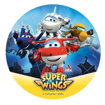Disque Super Wings Jett (20 cm) - Sucre