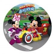 Disque en sucre Mickey Racer (20 cm)