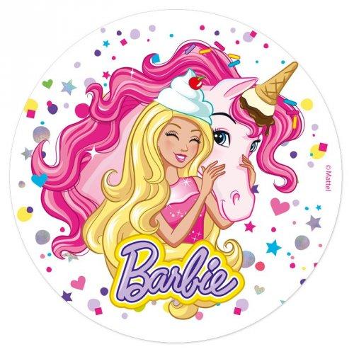 Disque en Azyme Barbie Licorne (20 cm)