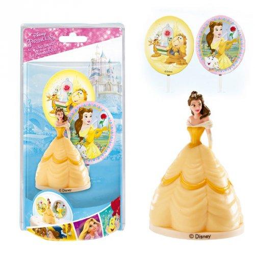 Kit Figurine + 2 Pics Déco Belle (Disney)