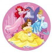 Disque en Azyme Princesses Cendrillon/Ariel/Belle (20 cm)