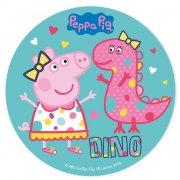 Disque en Sucre Peppa Pig Dino (20 cm)