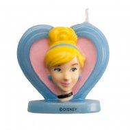 Bougie Princesse Disney Cendrillon 2D (5,5 cm)
