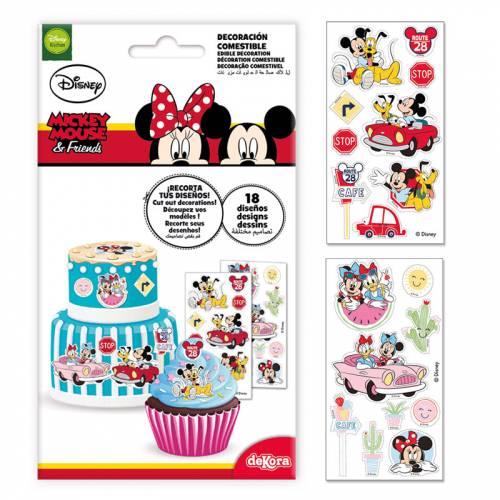 18 Stickers Mickey et Minnie - Comestible