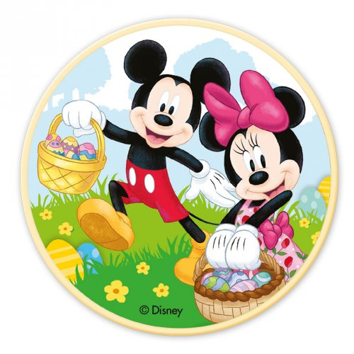 Petit Disque Mickey et Minnie (11 cm) - Chocolat blanc
