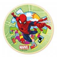 Petit Disque Spiderman Vert (11 cm) - Chocolat blanc