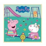 Petite Plaque Peppa Pig au Parc (11 cm) - Chocolat blanc