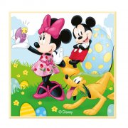 Petite Plaque Mickey et Minnie (11 cm) - Chocolat blanc