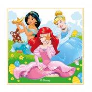 Petite Plaque Princesses Disney (11 cm) - Chocolat blanc