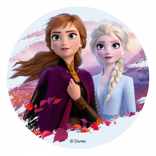 Disque Elsa et Anna - Reine des Neiges 2 (20 cm) - Azyme
