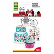 18 Stickers Mickey Minnie - Comestible - sans E171