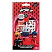 14 Stickers Lady Bug - Comestible - sans E171