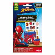 12 Stickers Spiderman - Comestible - sans E171