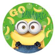 Disque Minion Bananas ! (20 cm) - Azyme - sans E171