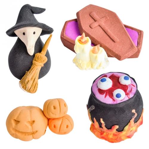 4 Décorations Halloween en sucre - 3D