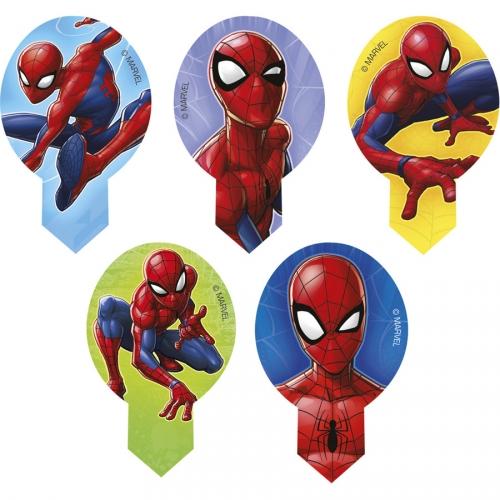 20 Décorations à Cupcakes Spiderman - Azyme - sans E171