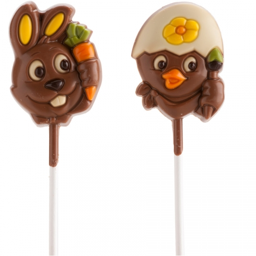 2 Sucettes Animaux de  Pâques - Chocolat