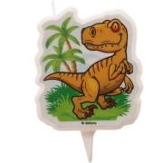 1 Bougie Silhouette Dinosaure