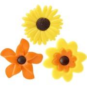 Set de 3 Fleurs de Printemps - Chocolat