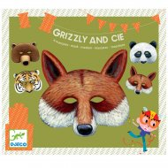 4 Masques Animaux Grizzly & Cie