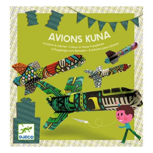 Avion Kuna à colorier