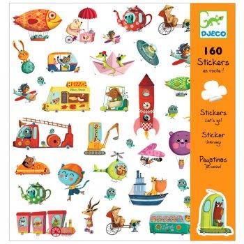 160 Stickers En route
