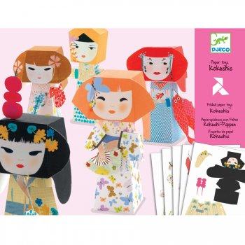 Paper Toys - 5 Poupées Kokeshis
