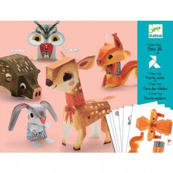 Paper Toys - Animaux Bois joli