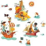 Stickers repositionnables - L'île aux trésors