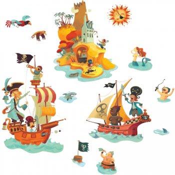 Stickers repositionnables - L île aux trésors