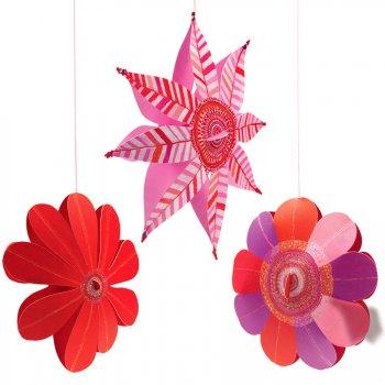 Fleurs des vents 3D à Suspendre