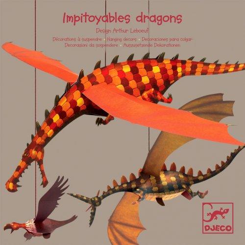 Impitoyables Dragons 3D à suspendre