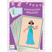 8 Invitations Princesses