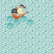 Papier peint Les vagues