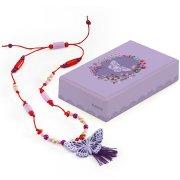 Collier Papillon Violet en bois