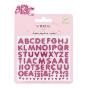 Mini stickers Lettres glitter Relief