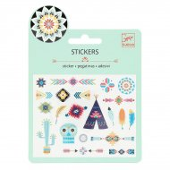 Mini stickers Indiens de Western