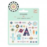 Mini stickers Indiens de Western