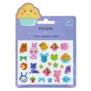 Mini stickers Animaux Kawa� Relief 2D